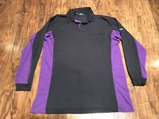 FEDEX Men's Long Sleeve T-Shirt Employee Uniform Size 2XL Black Purple