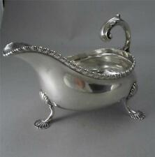 Antique Sterling Shell Footed Gravy Boat Mermod Jaccard St Louis