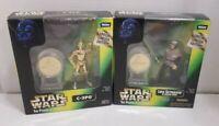 Star Wars POTF Millennium Minted Coin C-3PO Princess Leia Luke Endor Lot Sealed