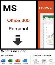 Microsoft Office 365 Personal 12-month Subscription 1 Person Windows & Mac