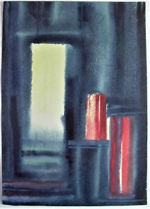 - Kurt REUTER (XX) Innsbruck - MINIMALIST. EXPRESSIVES AQUARELL 1963 (InvNr.835)