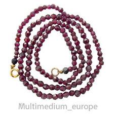 Kette Granat Perlen Halskette geschliffen necklace collier garnet cut 🌺🌺🌺🌺🌺