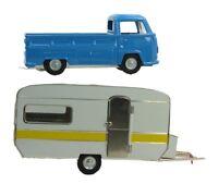 Trailer & VW Truck Set - Bundle - O Scale - Metal - Kovap - Railroad Vehicles