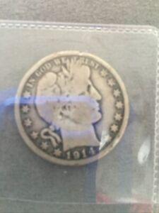 1914 Barber Silver Half Dollar Rare Date