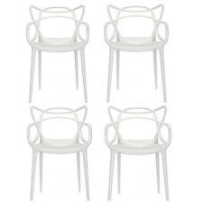 """Kartell Set 4 sedie """"masters"""" colore Bianco"""