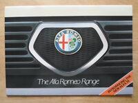ALFA ROMEO range 1983 UK Market prestige brochure - Alfasud 33 Sprint GTV6 6