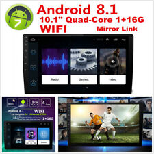 """8.1 Android 10.1"""" 2 DIN Quad-Core 1+16G Car Stereo Radio GPS Wifi Mirror Link"""