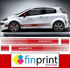 kit Adesivi FIAT PUNTO ABARTH fasce adesive laterali sticker Grande Punto