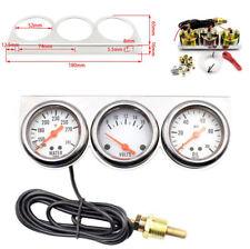 """3 In 1 52MM 2 """"Auto Wassertemperatur + Spannung + Öldruck Meter Gauge Universal"""