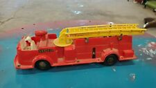 Vintage MARX Deluxe TRUCK Fire Chief Wind Up Toy  WORKING