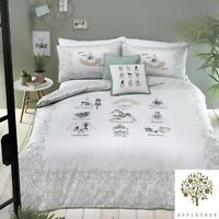 """Appletree """"Wellbeing"""" 100% Cotton Percale 180TC Duvet Cover Bedding Set Multi"""