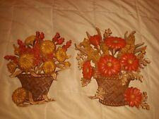 New listing Vintage Burwood Plastic Wall Hangings Basket Flowers Home Decor