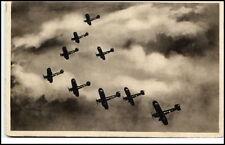 ~1940 Flugzeug Fliegerstaffel Militär Flugzeuge Dopisnice Airplanes in Sky AK