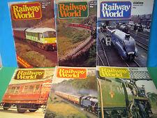 RAILWAY WORLD 6no JULY~DEC 1978 > JOB LOT OF VINTAGE MAGAZINES VGC > SEE PHOTOS