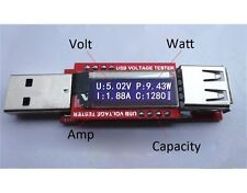Mini OLED USB Charger Capacity Power Bank Tester Current Voltage Detector Meter