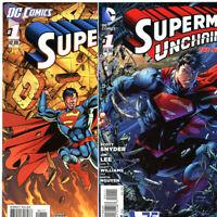 Superman New 52 #'s 1-8 (2011-12) PLUS Unchained #1 (2013) lot of 9 DC Comics