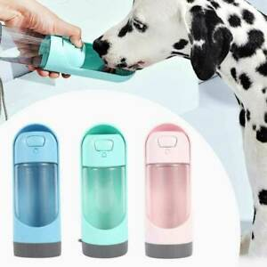 300ML  Dog Cat Water Bottle Drinking Cup Feeder Portable Puppy Pet Travel Bottle