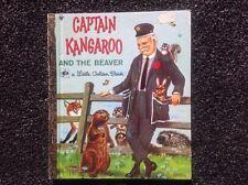 LITTLE GOLDEN BOOK - CAPTAIN KANGAROO AND THE BEAVER hardcover vintage 1973