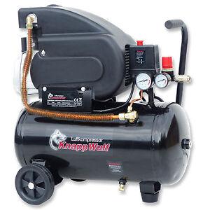 KnappWulf Luftkompressor Druckluft Kompressor 24L Kessel 1500W 208L/min