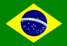 A5 iron on T-shirt Transfer -  Brazil, Brazilian Flag