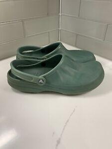 Crocs Green Slip On Clogs No Holes Men's Size 13 Might Run Small