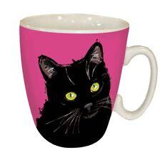 Black Cat Mug Waggy Tails Ceramic Standard Mug Cat Gifts NEW IN BOX