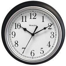 Westclox Black 9 Inch Diameter Wall Clock Second Hand Battery Operated  USSeller