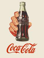 Publicité rétro Coca Cola Coke sur plaque métal vintage - bar pub resto café