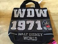 Disney  Wdw 1971 Mickey Mouse Backpack Tote Bag New