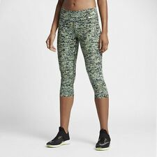 New Women's Nike Power Legendary Mid Rise Capri Running Fitness Tights 6-8 XS