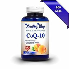 CoQ10 - 200 Capsules - High Potency 200mg - Co Q-10 Enzyme - USA MADE - NON GMO