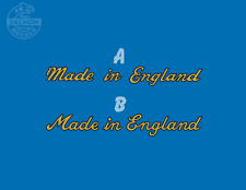Made in England Classic Script Water Slide Decal Transfer Raleigh Triumph BSA