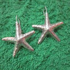 Hill Tribe Earrings Pure Silver Handcrafted Artisan Starfish Star Shape er064