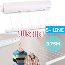 Heavy Duty Retractable 5 Line Hang-drying Rack Wall Mountable Clothes line NW