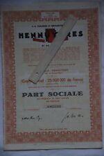 Braine le comte 7090  action Tuileries et briqueteries d'Hennuyères et de Wanlin