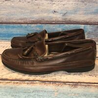 Sperry Top-Sider Men's Slip On Loafer Size 12 M 0717157 Brown Boat Shoes Leather