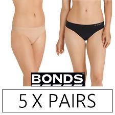 5 x BONDS WOMENS COMFYTAILS SIDE SEAMFREE G STRING - Underwear Black Blush