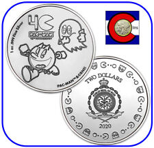 2020 Niue PAC-MAN™ 1 oz Silver $2 40th Anniversary Coin -- in direct fit capsule