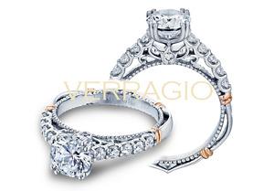 VERRAGIO PARISAN-D-103L 14K Gold and Diamond Engagement Ring, New