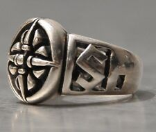 Medieval Bikers 925 Solid Silver: Ring Size 9.5