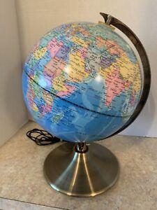 "8"" LED Illuminated World Globe Nite Lite Shows Constellations in Dark, Cool!"