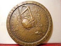 Médaille Education Bronze Belgique Haut Kataga Union Minière Mines 1906-1956