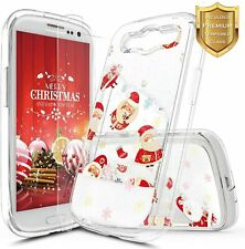 For Samsung Galaxy S3 Case Liquid Glitter Bling Phone Cover + Screen Protector