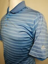 Adidas Climalite Xl Blue Striped Men's Casual Golf / Polo Shirt (Extra Large)