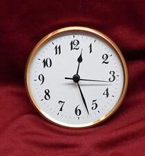 "Complete Clock Insert Fit Up Movement 4 1/4"" Diameter White Arabic Dial GWA4.25"