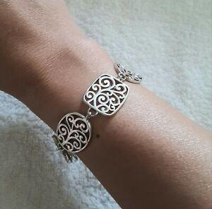 "Sterling Silver 925 Celtic Knot Link Bracelet 7"" 1/2 inches long"