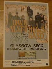 Dave Matthews Band - Glasgow march 2010 tour concert gig poster