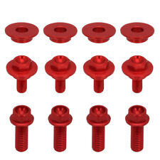 CNC Screw bolts of Radiator Shrouds For Honda CRF450R 2005-2008 2006 2007 Red
