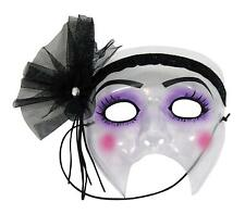 Flapper Transparent Plastic Mask Fancy Dress Halloween Adult Costume Accessory
