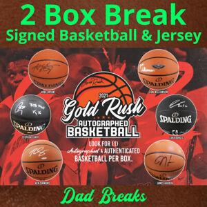 BROOKLYN NETS autographed Gold Rush basketball + signed jersey: 2 BOX LIVE BREAK